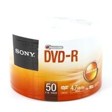 รูปภาพของ แผ่น DVD-R โซนี่ 4.7GB 16X(แพ็ค 50 แผ่น)