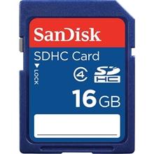 รูปภาพของ SANDISK SDHC CLASS 4 MEMORY CARD 16 GB SDSDB 016G
