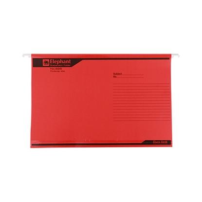 รูปภาพของ แฟ้มแขวน ตราช้าง 925 F4 สีแดง (แพ็ค 10 เล่ม)