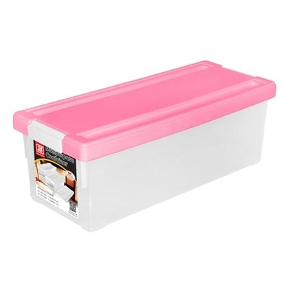 รูปภาพของ กล่องใส่ CD สีชมพู 1x3ชิ้น (บรรจุได้ 38 แผ่น) 17.5x45x15cm.
