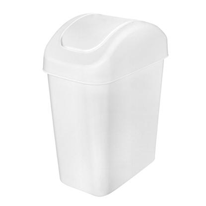 รูปภาพของ ถังขยะสี่เหลี่ยมฝาสวิง สีขาว 14 ลิตร 18x31x42cm.