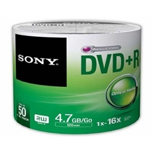รูปภาพของ แผ่น DVD+R SONY 4.7GB 16X (แพ็ค 50 แผ่น)