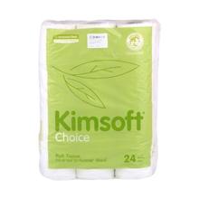 รูปภาพของ กระดาษชำระม้วนเล็ก Kimsoft Choice 9.60x13.70cm.ยาว17.60m. (แพ็ค24ม้วน)