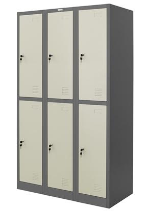 รูปภาพของ ตู้ล็อคเกอร์ 6 ช่อง Zingular รุ่น ZLK-6106 สีเทาสลับ