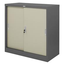 รูปภาพของ ตู้เหล็กบานเลื่อน 5 ฟุต Zingular รุ่น ZDO-315 สีเทาสลับ