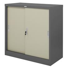 รูปภาพของ ตู้เหล็กบานเลื่อน 3 ฟุต Zingular รุ่น ZDO-313 สีเทาสลับ