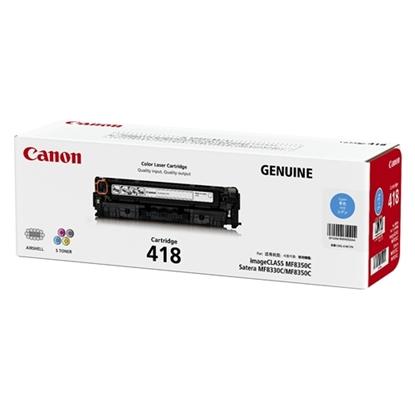 รูปภาพของ ตลับหมึกโทนเนอร์ Canon Cartridge-418C ฟ้า