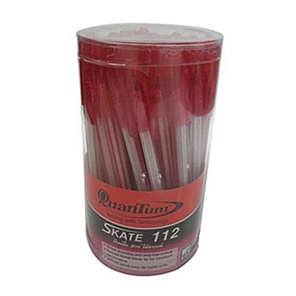 รูปภาพของ ปากกาลูกลื่น ควอนตั้ม สเก็ต 112 0.5 มม. สีแดง ด้ามแดง (กล่อง 50 ด้าม)