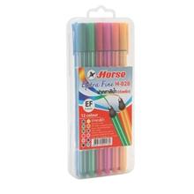 รูปภาพของ ปากกาเมจิก ตราม้า H-028 0.4มม. คละสี (แพ็ค12ด้าม)