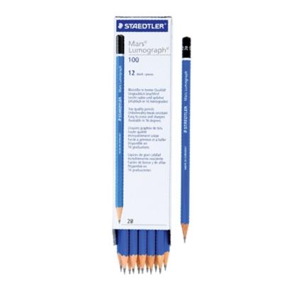 รูปภาพของ ดินสอเขียนแบบ สเต็ดเล่อร์ Lumograph 2B (แพ็ค12แท่ง)