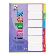 รูปภาพของ อินเด็กซ์กระดาษ ออร์ก้า 6 หยัก A4 คละสี