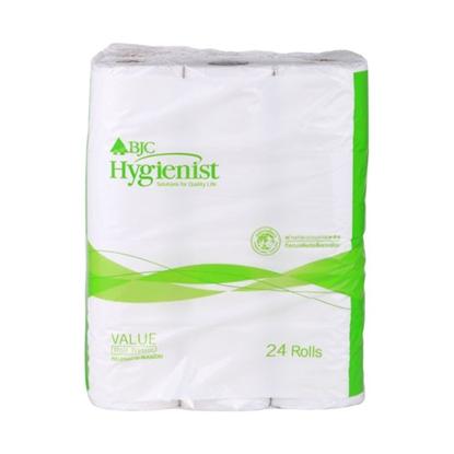 รูปภาพของ กระดาษชำระม้วนเล็ก BJC Hygienist Value แพ็ค 24 ม้วน ( ลังบรรจุ 6 แพ็ค )