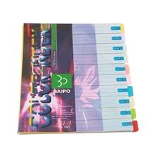 รูปภาพของ อินเด็กซ์กระดาษโปสเตอร์นอก ใบโพธิ์ 10 หยัก A4 คละสี