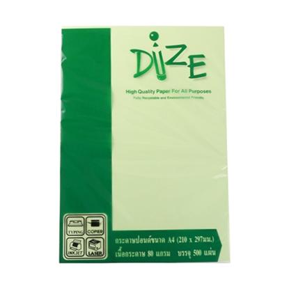รูปภาพของ กระดาษสีถ่ายเอกสาร ไดซ์ No.09 80/500 A4 สีเขียวอ่อน