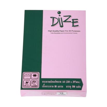รูปภาพของ กระดาษสีถ่ายเอกสาร ไดซ์ No.10 80/500 A4 สีชมพูเข้ม