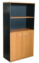รูปภาพของ ตู้เอกสารบานเปิด 2 ชั้น บานโล่ง 2 ชั้น โมโน C150WOS(F) เชอร์รี่/ดำ