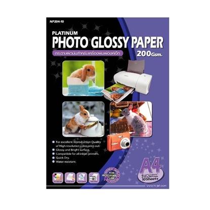 รูปภาพของ กระดาษอิงค์เจ็ทโฟโต้ Hi-Jet NP204-10 A4 200g 10 แผ่น