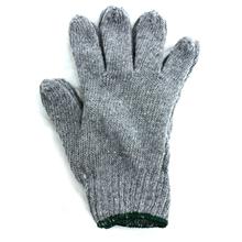 รูปภาพของ ถุงมือผ้าทอ 6 ขีด เทาขอบเขียว