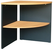 รูปภาพของ โต๊ะเข้ามุม โมโน CCSS-60(F) เชอร์รี่/ดำ