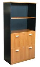 รูปภาพของ ตู้เอกสารแบบแฟ้มแขวน 2 ชั้น บานโล่ง 2 ชั้น โมโน C150WFS(F) เชอร์รี่/ดำ