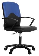 รูปภาพของ เก้าอี้สำนักงาน โมโน STRING หนังเทียม/พนักพิงผ้า (ดำ-น้ำเงิน)