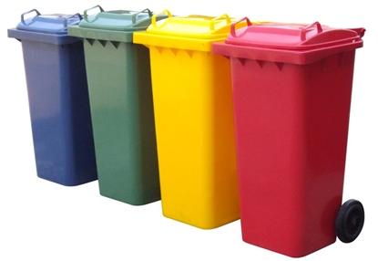 รูปภาพของ ถังขยะเหลี่ยม 240 ลิตร / 2 ล้อ / ฝาเรียบ (โปรดระบุสี)