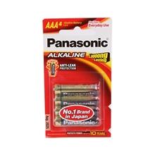 ถ่านอัลคาไลน์ AAA ถ่านอัลคาไลน์ พานาโซนิค LR03T/4B AAA (แพ็ค 4 ก้อน) พานาโซนิค