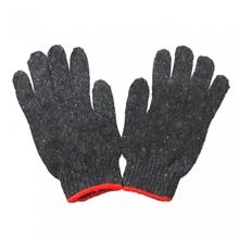 รูปภาพของ ถุงมือผ้าทอ 4 ขีด สีเทาขอบแดง (แพ็ค 12 คู่)