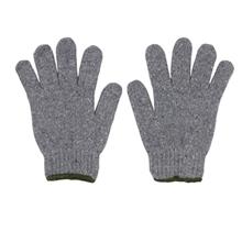 รูปภาพของ ถุงมือผ้าทอ 5 ขีด สีเทาขอบเขียว (แพ็ค 12 คู่)