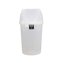 รูปภาพของ ถังขยะกลมคลีนเมทฝาสวิง สแตนดาร์ด RW9293 45 ลิตร สีใส