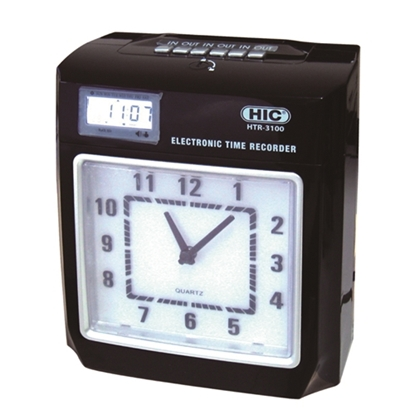 รูปภาพของ นาฬิกาตอกบัตร HIC รุ่น HTR-3100(แถมแผงเสียบบัตร 50 ช่อง 1 แผง บัตรตอก  200 ใบ)