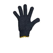 รูปภาพของ ถุงมือผ้าทอ 7 ขีด สีเทาขอบเหลือง