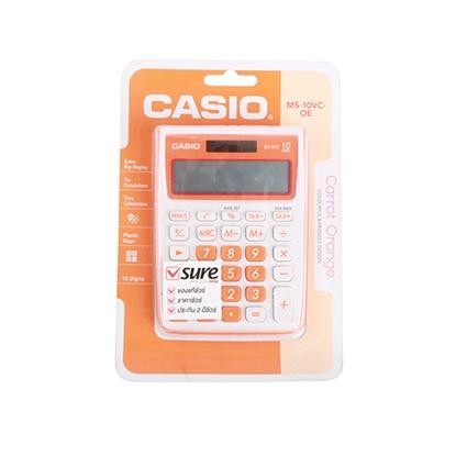 รูปภาพของ เครื่องคิดเลข คาสิโอ MS-10VC 10 หลัก สีส้ม