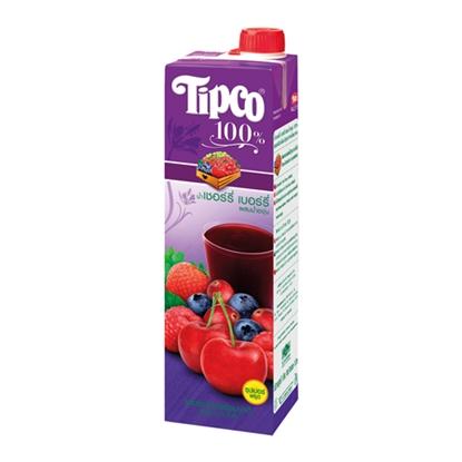 รูปภาพของ น้ำเชอรี่ เบอรี่100% 1 ลิตร ทิปโก้