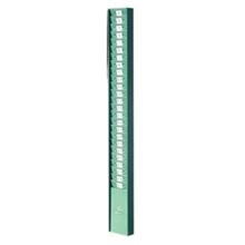 รูปภาพของ แผงเสียบบัตรตอก นิปโป้ 25 ช่อง แบบเหล็ก สีเขียว(10.5x87 ซม.)