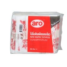 รูปภาพของ ไม้จิ้มฟัน บรรจุซองกระดาษสีขาวลายดอกไม้ ยี่ห้อ ARO ( 1 x 500 ชิ้น )