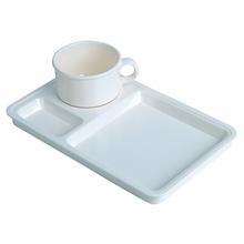 รูปภาพของ ชุดจานของว่างพลาสติกพร้อมถ้วยกาแฟ ครีม #2561 (15.1 x 4.6 x 6.5 cm.)