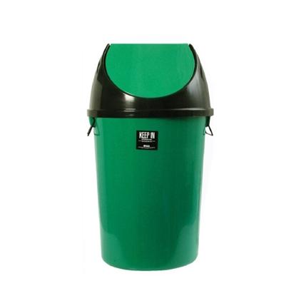 รูปภาพของ ถังขยะกลมฝาสวิง สแตนดาร์ด RW9294 (75 ลิตร) สีเขียว
