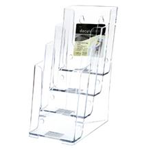 รูปภาพของ กล่องใส่โบรชัวร์ ดีเฟลคโต้ 77701-TL 1/3 A4 (11x16x25.4 ซม.) 4ช่อง 4ชั้น