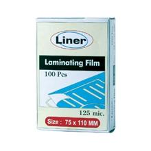 รูปภาพของ พลาสติกเคลือบ ไลเนอร์ 125ไมครอน 75x110 มม.(กล่อง100แผ่น)