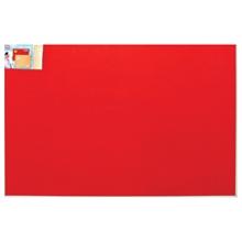 รูปภาพของ บอร์ดปิดประกาศกำมะหยี่ ขอบอะลูมิเนียม โรบิน 80 x 120 ซม. แดง