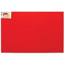 รูปภาพของ บอร์ดปิดประกาศกำมะหยี่ ขอบอะลูมิเนียม โรบิน 90 x 120 ซม. แดง