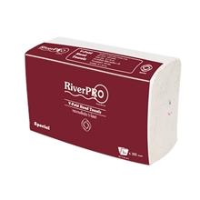 รูปภาพของ กระดาษเช็ดมือ RiverPro V-Fold 2 ชั้น 300 แผ่น