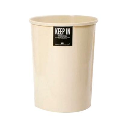 รูปภาพของ ถังขยะกลมไม่มีฝา สแตนดาร์ด RW9075 (20 ลิตร) สีครีม