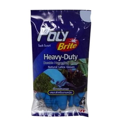 รูปภาพของ ถุงมือยางธรรมชาติ รุ่น Heavy-Duty Size M โพลี-ไบรท์