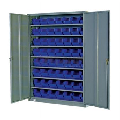 รูปภาพของ ตู้เก็บอะไหล่งานหนัก TOOLMAX BC-858DBR บานเปิด 8 ชั้น มีประตู 350 กก.พร้อมกล่องอะไหล่ 40 อัน(ตู้เทา กล่องน้ำเงิน)