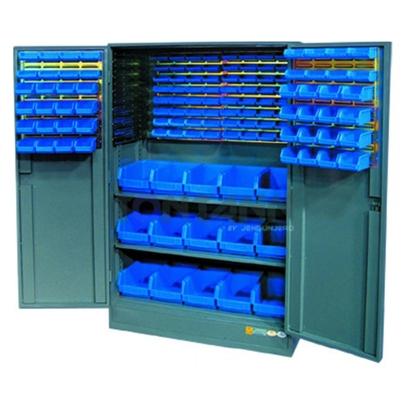 รูปภาพของ ตู้เก็บอะไหล่งานหนัก TOOLMAX BCH-1118BN บานเปิดมีประตู 500กก.พร้อมกล่องอะไหล่ 127 อัน(ตู้เทา กล่องน้ำเงิน)