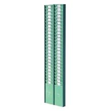 รูปภาพของ แผงเสียบบัตรตอก นิปโป้ 50 ช่อง แบบเหล็ก สีเขียว (21x87 ซม.)
