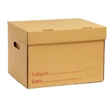 รูปภาพของ กล่องเก็บเอกสาร FF กระดาษคราฟท์ KA ขนาด 32X40X27 ซม. (แพ็ค 2 ใบ)