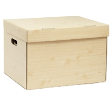 รูปภาพของ กล่องเก็บเอกสาร ลายไม้พาเลท ขนาด 37X44X30 ซ.ม. (แพ็ค 2 ใบ)